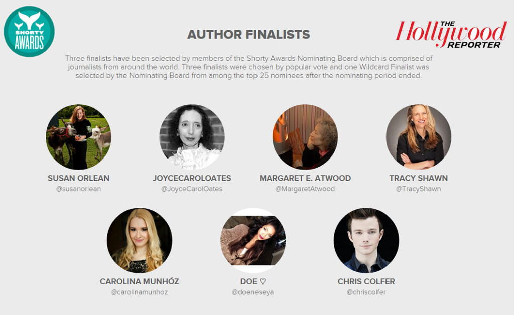 shorty awrds finalist